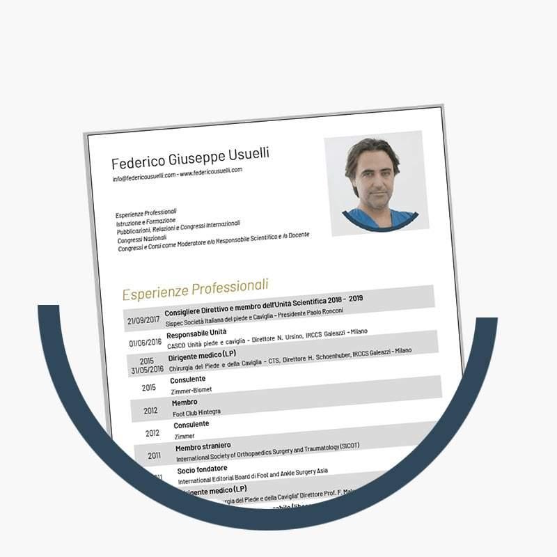 dr. Federico Usuelli Curriculum Vitae