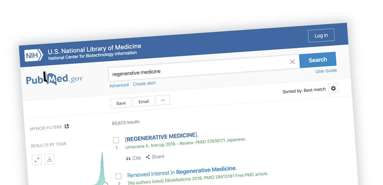 medicina rigenerativa pubmed